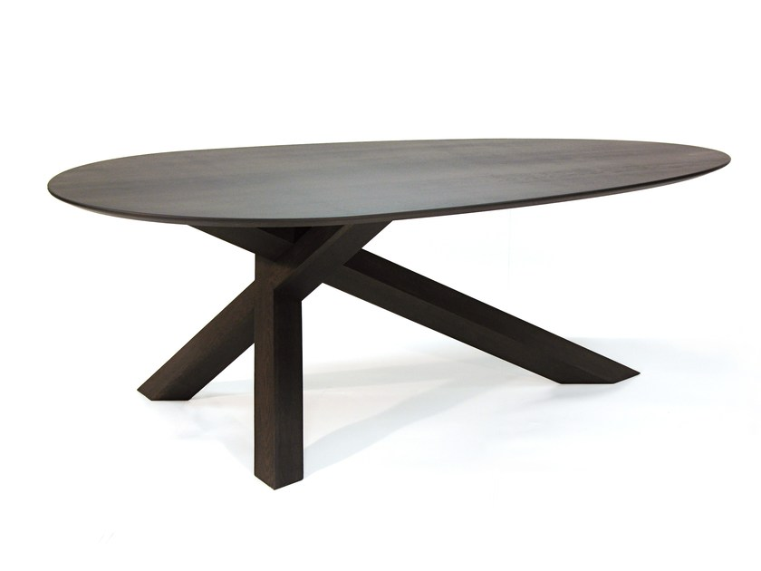 Wooden table CROSSTABLE 3 BEAM by ZinX