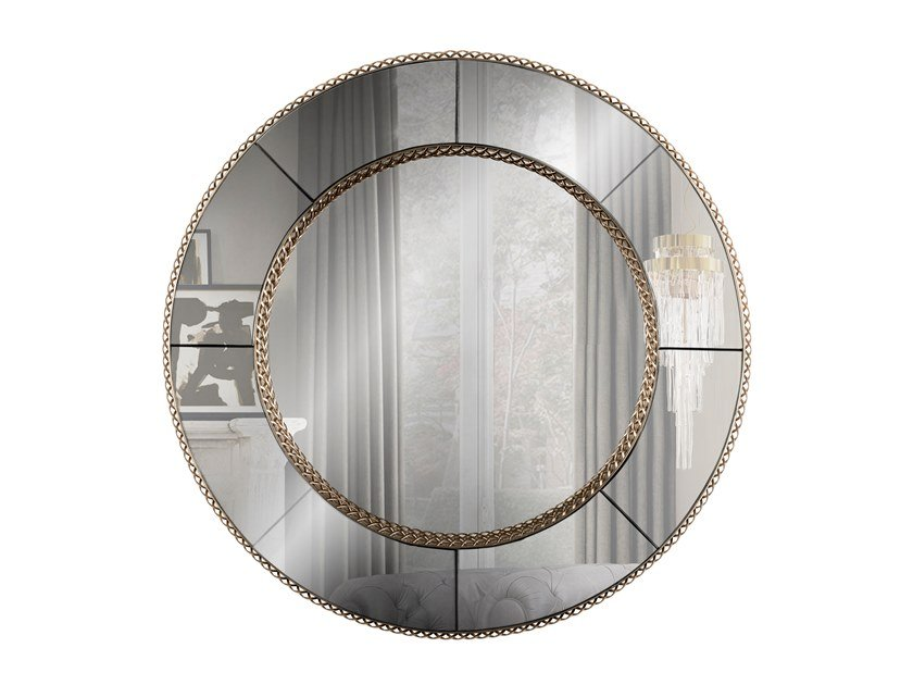 Round wall-mounted mirror CROWN | Mirror by LUXXU