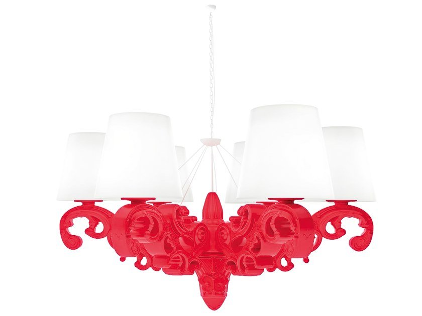 Polyethylene chandelier CROWN OF LOVE by SLIDE