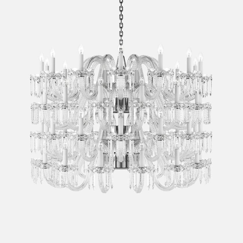 Fatta Al Piombo Cristallo Lampadario Lighting In Preciosa Crown A Mano Luce Diretta cAq34RLS5j