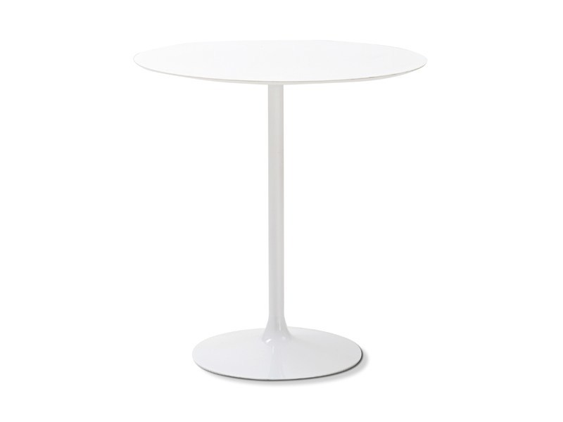 Round laminate table CROWN-T by DOMITALIA