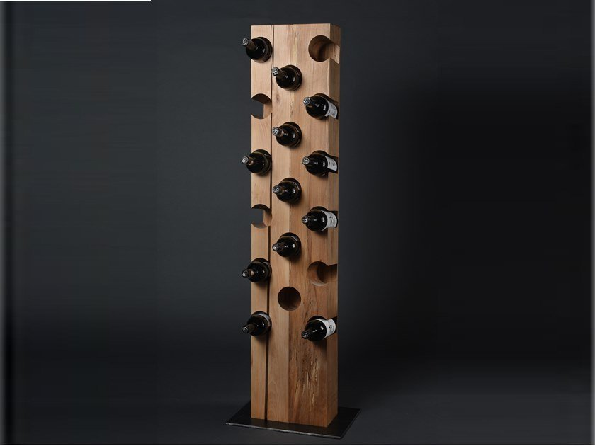 Beech bottle rack CRU #03 by Nature Systems