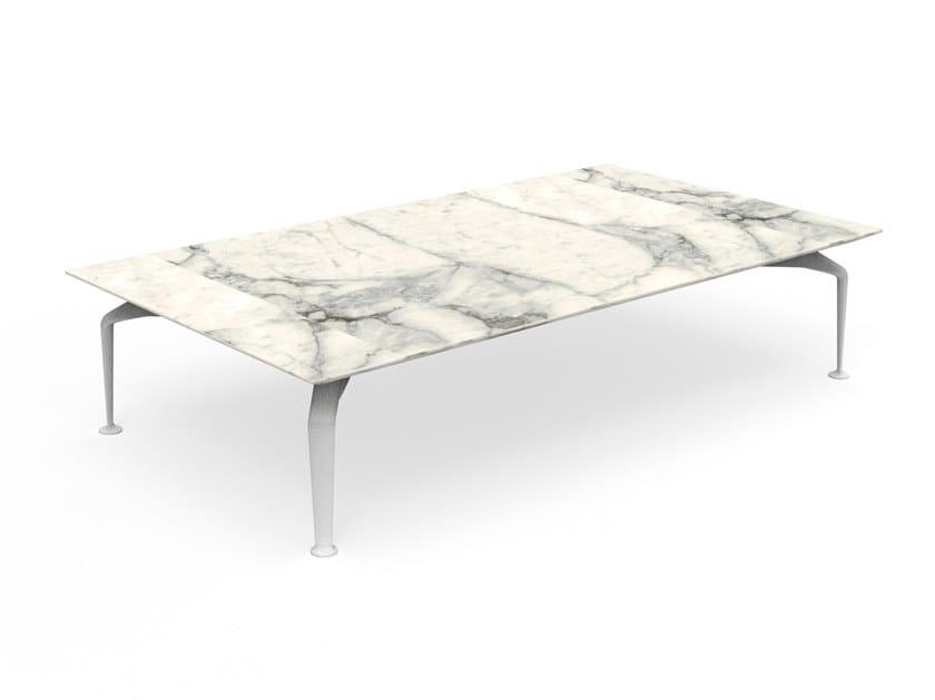 Tavolino rettangolare in gres porcellanato CRUISE ALU   Tavolino rettangolare by Talenti