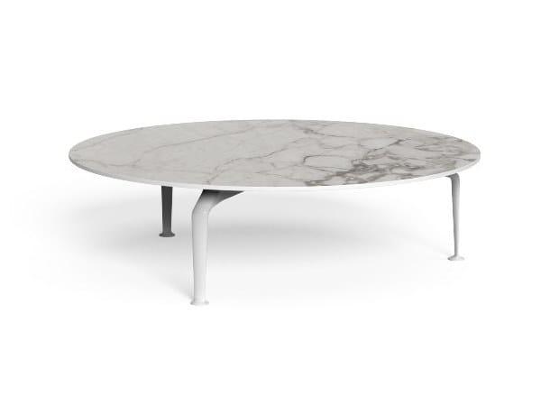 Tavolino rotondo in gres porcellanato CRUISE ALU   Tavolino rotondo by Talenti