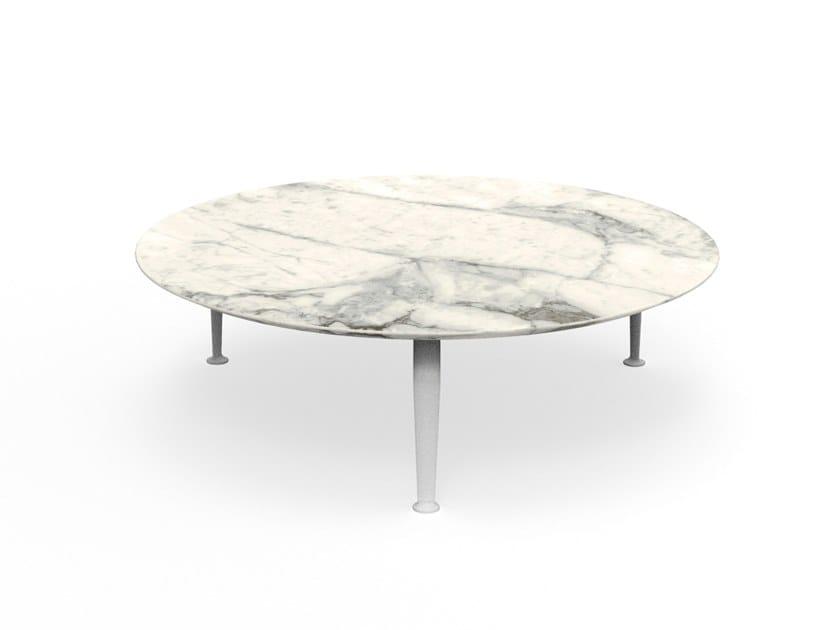 Tavolino rotondo in gres porcellanato CRUISE ALU | Tavolino rotondo by Talenti