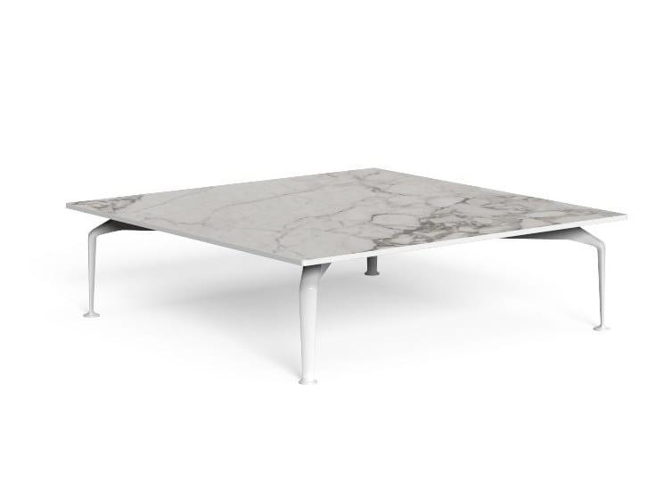Tavolino quadrato in gres porcellanato CRUISE ALU   Tavolino quadrato by Talenti