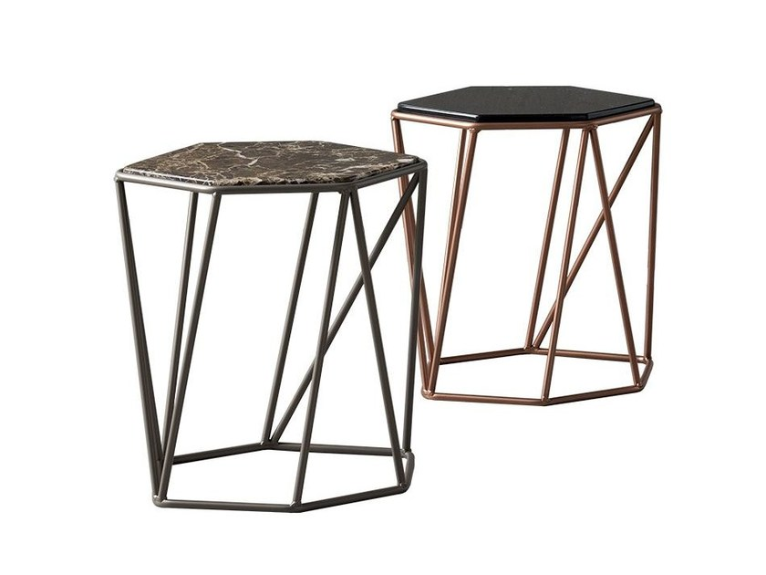 Marble bedside table CRUZ by Chaarme Letti