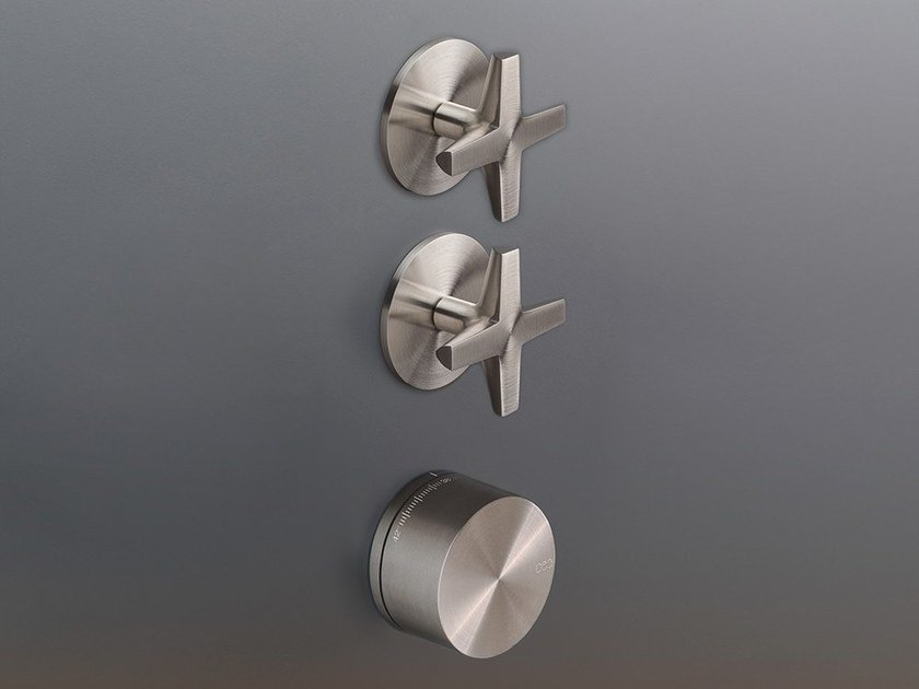 Thermostatic mixer set with 2 shut-off valves CRX 53 by Ceadesign