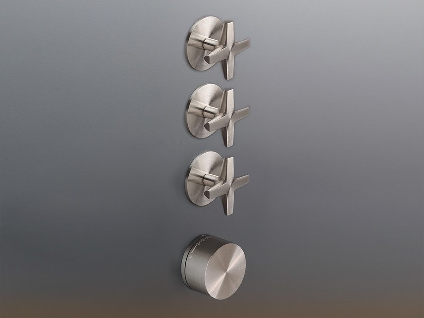 4 hole stainless steel thermostatic shower mixer CRX 54 by Ceadesign