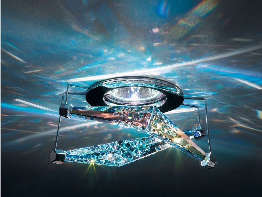 Recessed spotlight with Swarovski crystals 4 REFLEX by Swarovski
