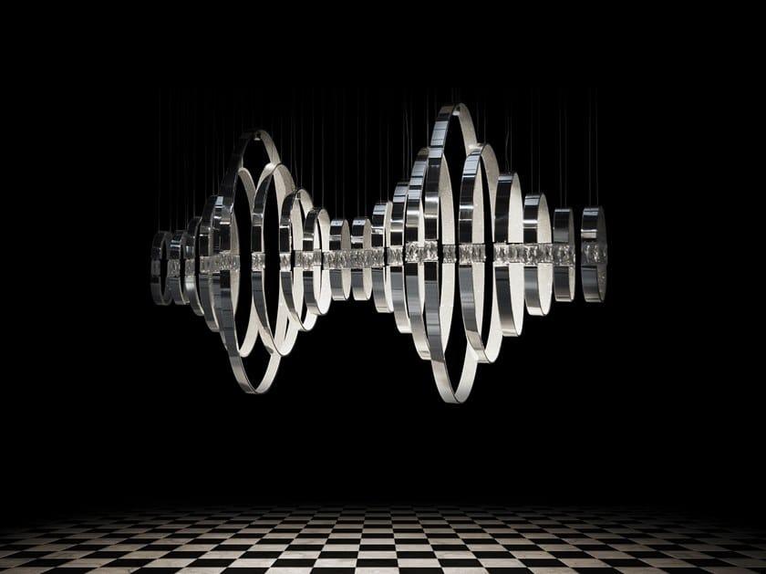 Indirect light metal pendant lamp CRYSTAL HEARTS M by ILFARI