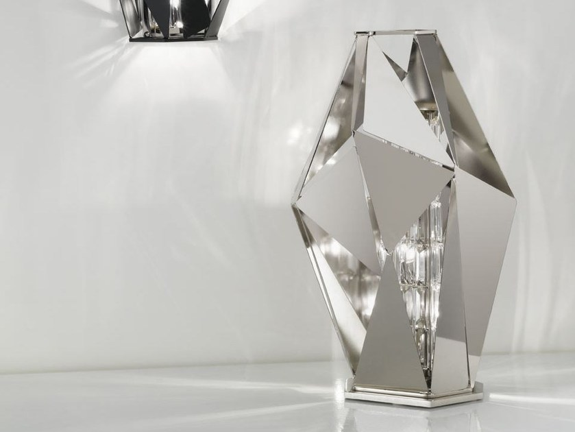 Metal table lamp with Swarovski® crystals CRYSTAL ROCK | Table lamp by IDL EXPORT
