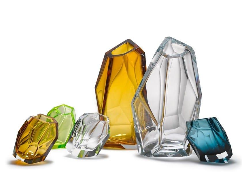 Blown glass vase CRYSTAL ROCK | Vase by Lasvit