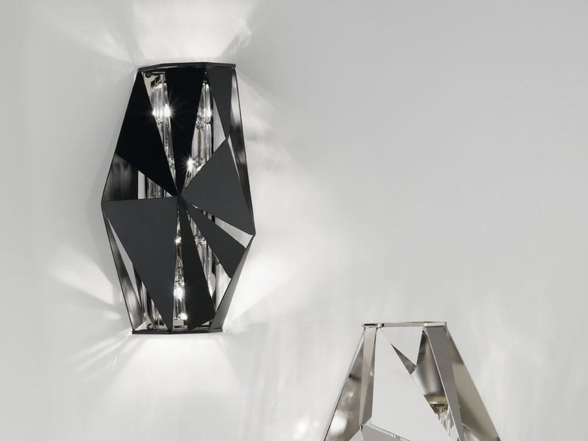 Metal wall light with Swarovski® crystals CRYSTAL ROCK | Wall light by IDL EXPORT