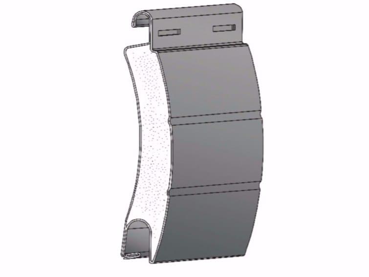 Insulated steel roller shutter CS55 by Teknika