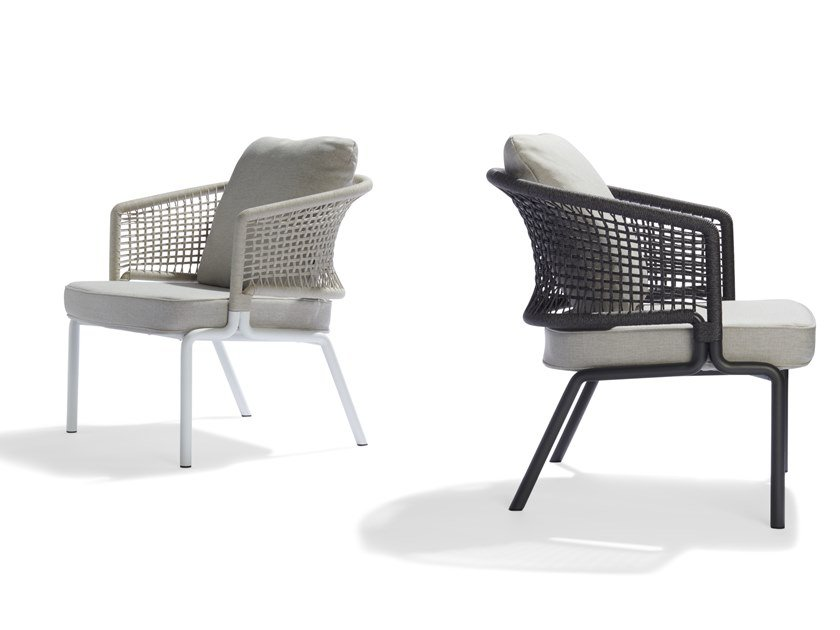Garden easy chair with armrests CTR | Easy chair by TRIBÙ