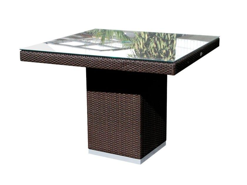 Tavolo da giardino quadrato per contract CUATRO PACIFIQUE 2378 by SKYLINE design