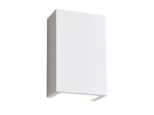 Applique a luce diretta e indiretta in gesso cube cube