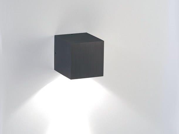 Applique per esterno a luce diretta in alluminio anodizzato CUBE 1L (exterior) by BEL-LIGHTING