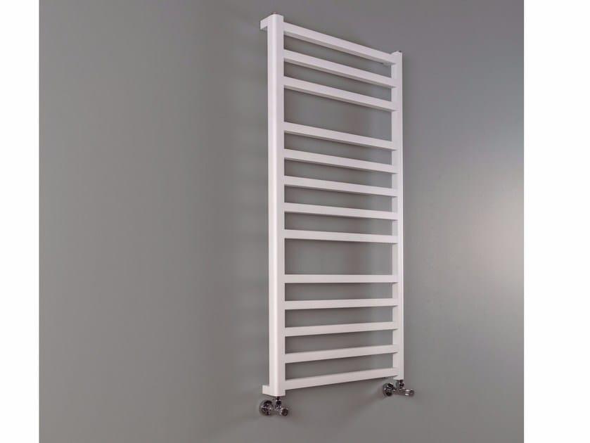 Vertical wall-mounted aluminium towel warmer CUBE-AL BATH by RIDEA