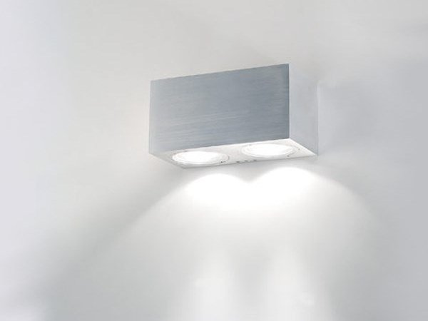 Direct light Anodized aluminium Outdoor wall Lamp CUBE BIS (exterior) by BEL-LIGHTING