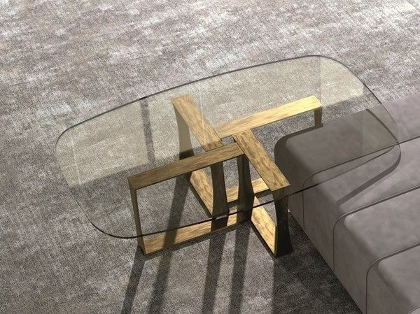 Contemporary style low rectangular glass coffee table for living room CUBE | Coffee table by Carpanelli