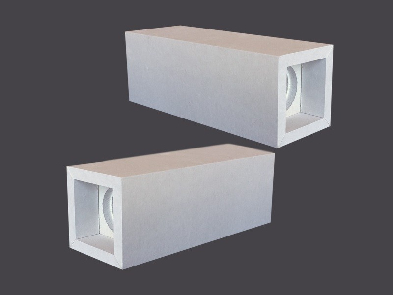 Spotlight housing in plasterboard DOUBLE LED CUBES 90° by Gyps