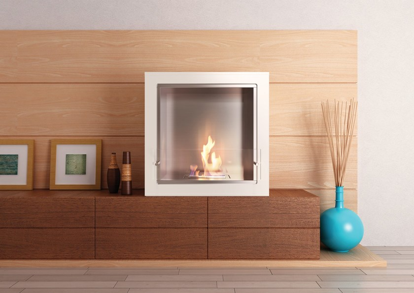 Freestanding bioethanol fireplace CUBE by EcoSmart Fire