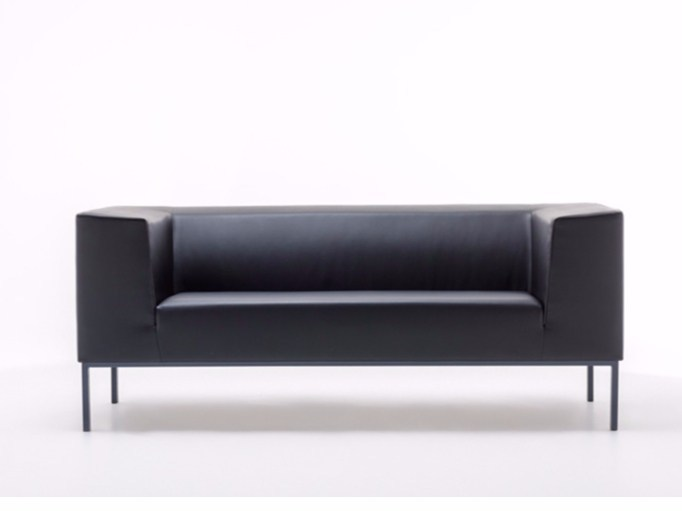Leather sofa CUBE by ersa