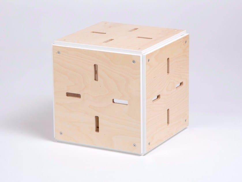 Sgabello / tavolino in compensato CUBE FERME by ENEIXIA