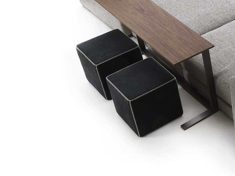 Square fabric pouf CUBE by Flexstyle