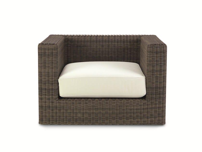 Ethimo EtWick® garden armchair with armrests CUBE | Garden armchair by Ethimo