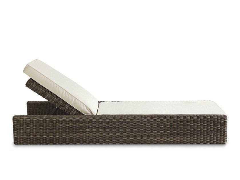 Recliner garden daybed with Casters CUBE | Garden daybed by Ethimo