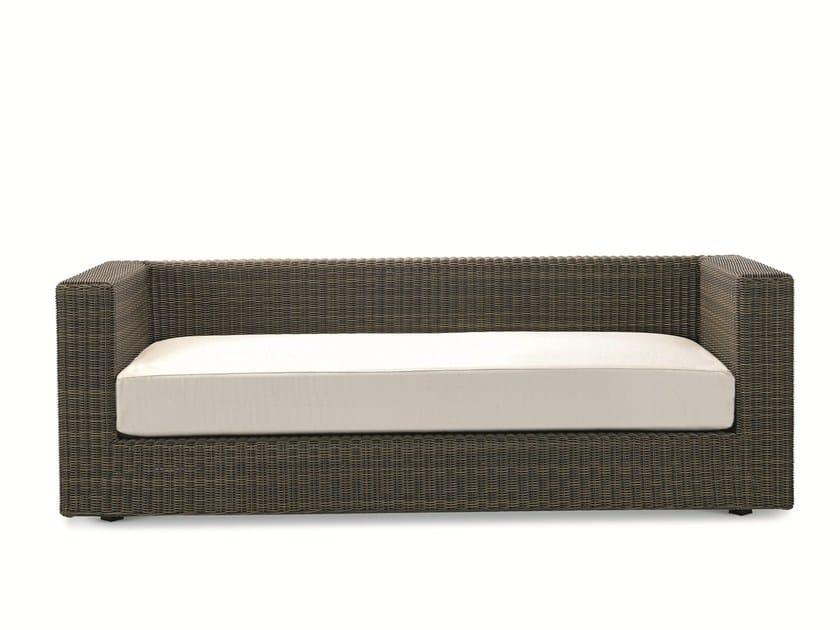 3 seater Ethimo EtWick® garden sofa CUBE | Garden sofa by Ethimo