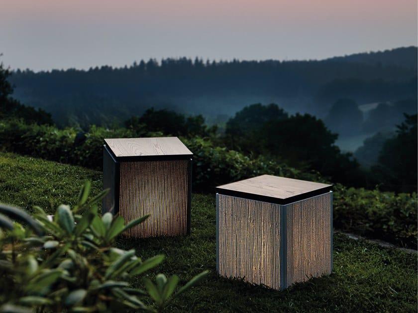 Concrete floor lamp / stool CUBE by LUCEM