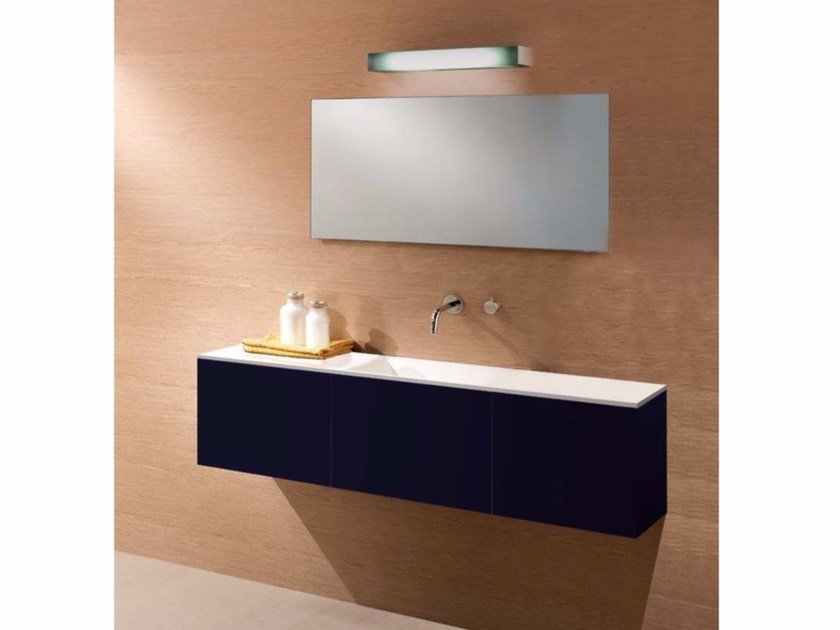 Single vanity unit with drawers CUBE | Lacquered vanity unit by CARMENTA