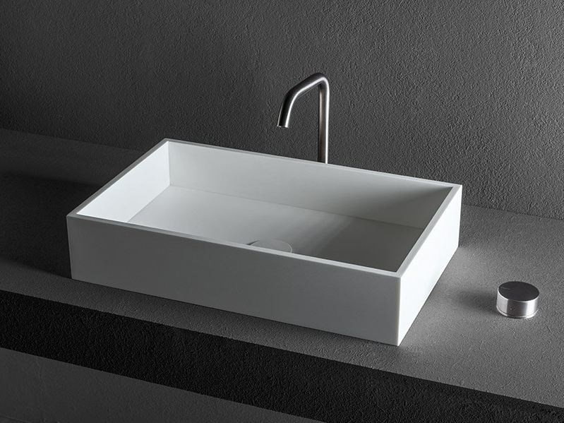 Countertop Corian® washbasin CUBE   Countertop washbasin by MAKRO