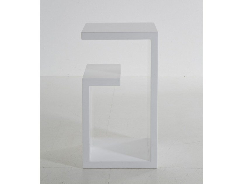 MDF coffee table with integrated magazine rack CUBE MEANDER by KARE-DESIGN