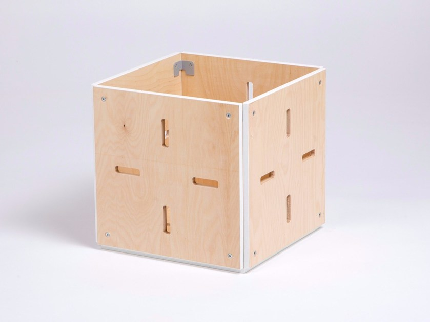 Plywood stool / coffee table CUBE OUVERT by ENEIXIA