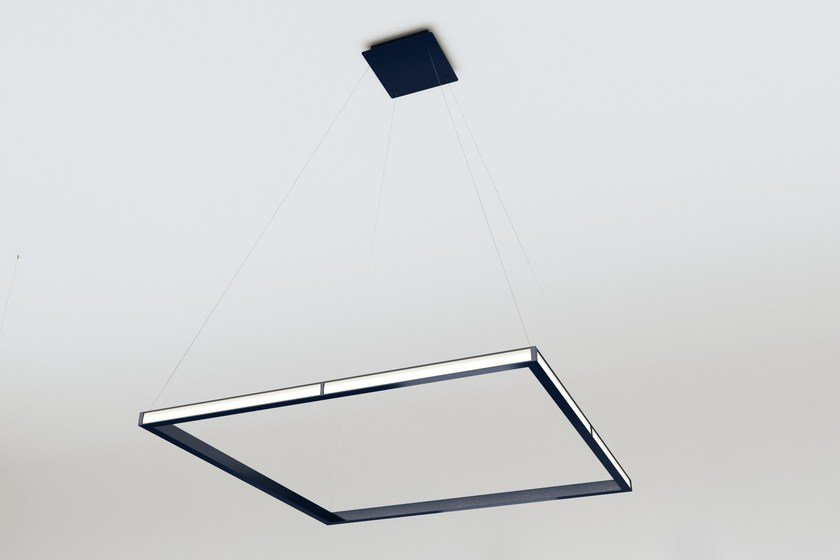 LED indirect light aluminium pendant lamp CUBE by Oleant