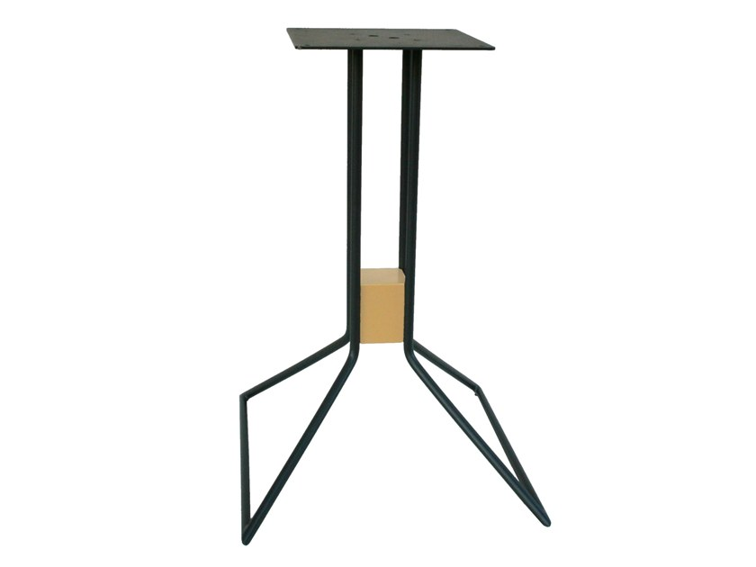 Galvanized steel table base CUBE by RD Italia