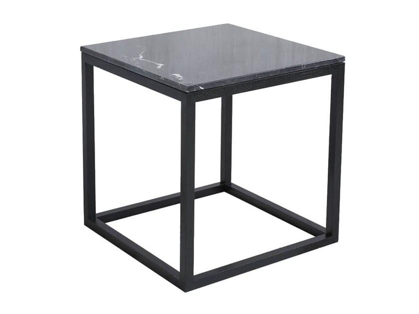 Oak Coffee Table / Bedside Table CUBE TABLE BLACK OAK U0026 MARBLE By Kristina  Dam Studio