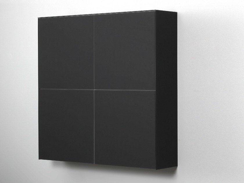 Lacquered Xeramica wall cabinet with door CUBE 40 | Wall cabinet by Joli & CUBE 40 | Wall cabinet By Joli design Chris Vankeirsbilck