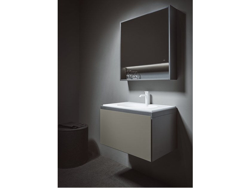 Wall-mounted vanity unit with drawers CUBE | Wall-mounted vanity unit by INBANI