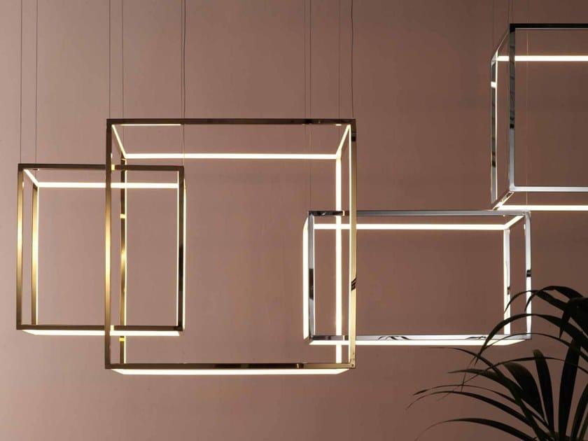 Lampada a sospensione a LED in metallo CUBE-X by Aromas del Campo