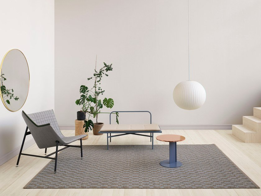 Woven rug in pure wool CUBRICK ICON by Kasthall