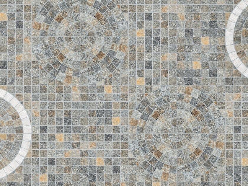 Porcelain stoneware outdoor floor tiles with stone effect CUBETTI LUSERNA by PIETRA SINTERIZZATA