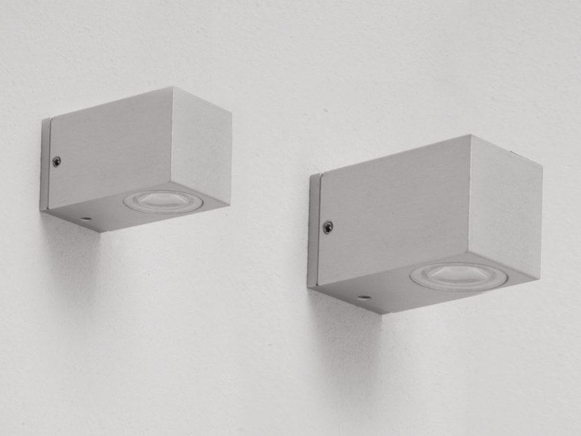 LED Anodized aluminium wall lamp CUBETTO by ENGI
