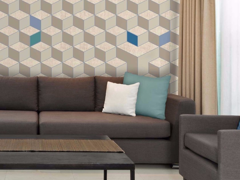 Geometric non-woven paper wallpaper CUBIC by LGD01