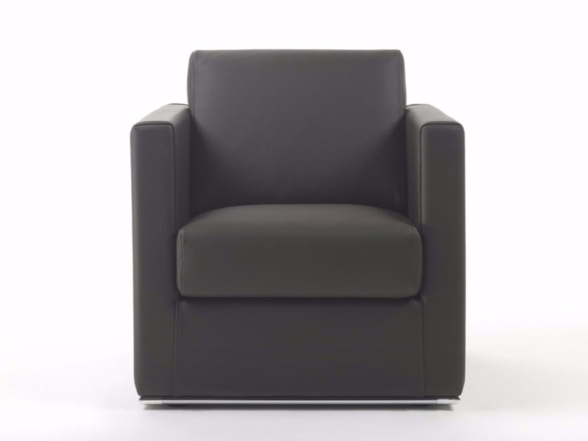 Armchair with armrests CUBIC METAL | Armchair by Marelli